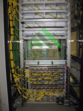 Смонтированный оптический шкаф (проектирование, монтаж, обслуживание СКС, ВОЛС, ЛВС)