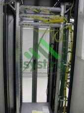Прокладка оптических патч-кордов в шкафу