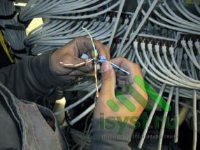 Расключение кабеля СКС категории 7e