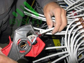 Обжимка провода СКС 7 категории (проектирование, монтаж, обслуживание СКС, ВОЛС, ЛВС)