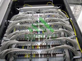 Маркировка проводов СКС в шкафу