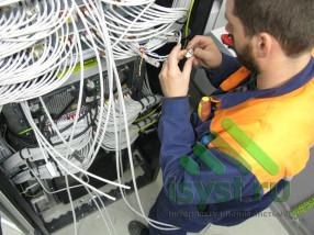 Расключение серверной СКС