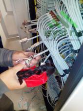 Обжим кабеля СКС 6 категории