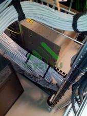 Прокладка провода UTP в шкафу СКС
