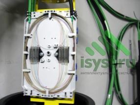 Сварка большой оптической муфты ВОЛС (проектирование, монтаж, обслуживание СКС, ВОЛС, ЛВС)