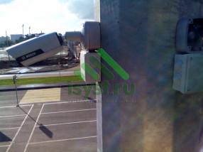 Смонтированная камера видеонаблюдения