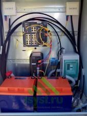 Шкаф с PPOE-коммутатором, резервным блоком питания и оптическим входом (монтаж и обслуживание видеонаблюдения)