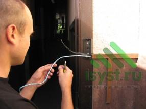 Расключение вызывной панели цветного видеодомофона (продажа, монтаж, обслуживание домофонов)