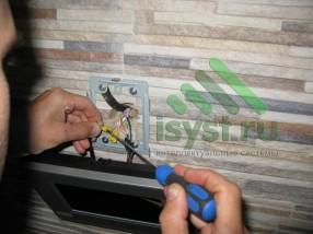 Установка цветного видеодомофона Commax (продажа, монтаж, настройка, техническое обслуживание домофонов)