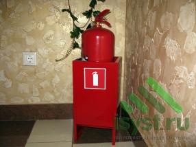 Первичное средство пожаротушения - огнетушитель (установка в помещении)